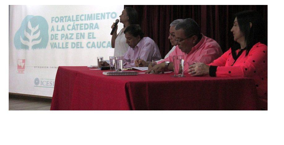 Con éxito se cumplió Fortalecimiento a la Cátedra de Paz en el Valle del Cauca