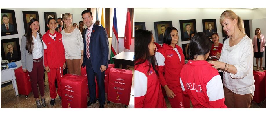 Deportistas Valle Oro Puro recibieron indumentaria para representar a Colombia en Suramericano