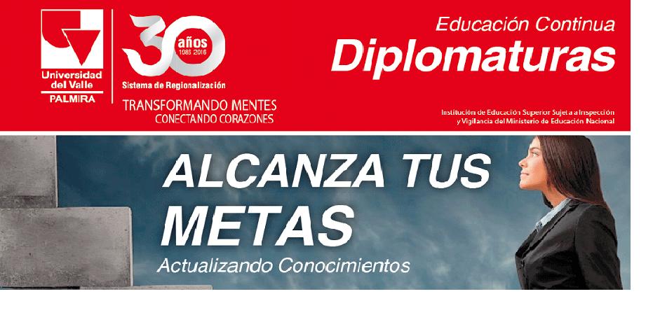 Oferta académica de diplomaturas sede Palmira de Univalle