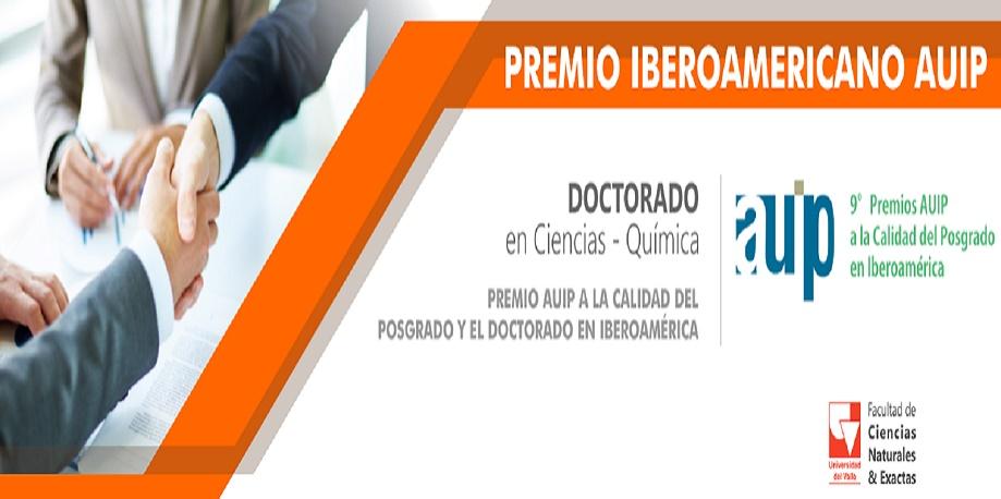 Premio iberoamericano para Doctorado en Química